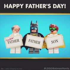 Happy #FathersDay to all the proud padre figures out there. #LEGOBatmanMovie #Batman #dccomics #superman #manofsteel #dcuniverse #dc #marvel #superhero #greenarrow #arrow #justiceleague #deadpool #spiderman #theavengers #darkknight #joker #arkham #gotham #guardiansofthegalaxy #xmen #fantasticfour #wonderwoman #catwoman #suicidesquad #ironman #comics #hulk #captainamerica #antman #harleyquinn