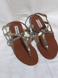 SALE £32.99 BNWT Steve Madden Metallic Sandals RRP £60  Selling my never worn Steve Madden sandals! UK6.5 EU40