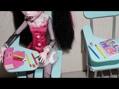 How to make pencil, pen and eraser for doll (Monster High, MLP, EAH, Barbie, etc) - YouTube