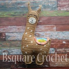 Bsquare Crochet: Llama Pillow Friend