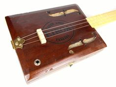 Acousitc / Electric Three String Cigar box Guitar