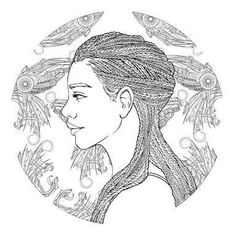 Iko from the lunar chronicles coloring book ilustrated by kathryn gee