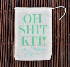 Let's be honest SHIT HAPPENS, but don't let it happen to your guests after a night of partying + celebrating!! These bags are a must have to stuff aspirins, alka-seltzer and mints in for the morning after the big bash!! by ilu.lily designs via Etsy #hangover #hangoverkit #recovery #recoverykit #ohshit #ohshitkit #weddingrecovery #weddingrecoverykit #weddingfavor #wedding #destinationwedding #shithappens #destinationbride #bridalparty #bridetobe #ilulilydesigns