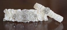 Wedding Garter SetRhinestone Garter Set on a by TheRitzyBridalSash