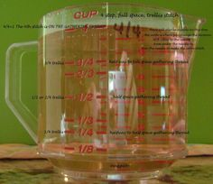 what does a measuring cup have in common with smocking the trellis stitch?