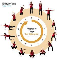Pregnancy Yoga Sun Salutation Ekhart Yoga