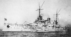 SMS Westfalen - one of Germany's older WW1 dreadnoughts, she found herself leading the German line at Jutland after Scheer's 'battle turn away'.