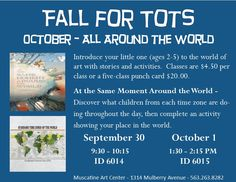 Fall for Tots at the Muscatine Art Center, Muscatine Iowa
