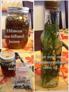 Make your own Herbal- infused oils and honey