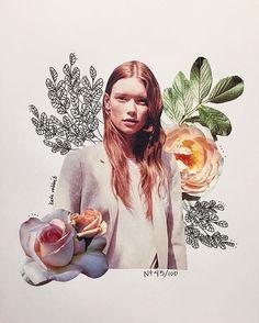 Resultado de imagem para flower collage art