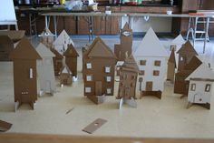 We had the best time today making a Cardboard City!