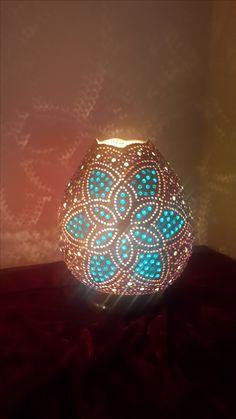 Mandala Stencils, Gourd Lamp, Book Markers, Dremel, Mosaic Art, Gourds, Ceramic Art, Lanterns, Candle Holders