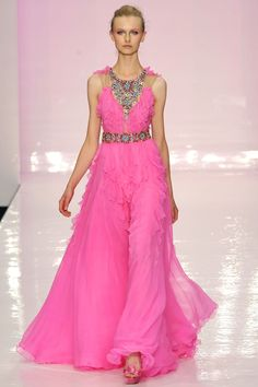 Jenny Packham S/S 2009 brilliant pink bejeweled gown