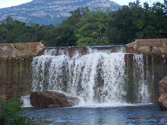 the falls, Medicine Park, Oklahoma Great place to practice rock climbing and repelling close to Dallas Oklahoma Usa, Travel Oklahoma, Wichita Mountains Oklahoma, Oklahoma Tourism, New York Travel, Travel Usa, Medicine Park Oklahoma, Places To Travel, Places To See