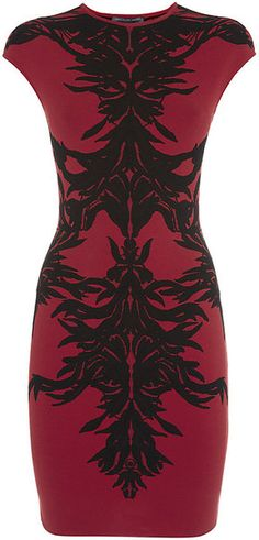Alexander McQueen Floral Intarsia Dress