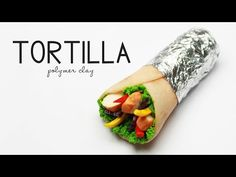 polymer clay Tortilla / chicken wrap TUTORIAL - YouTube