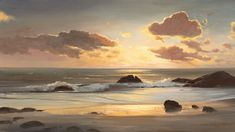 aesthetic ocean pictures landscape Ocean Wallpaper, Painting Wallpaper, Landscape Wallpaper, Forest Sunset, Ocean Pictures, Ship Paintings, Design Floral, Aesthetic Photography Nature, Nature Water