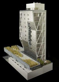 maqueta de la Torre HL23 (Neil Denari)