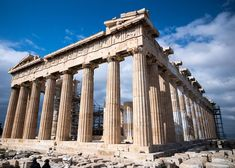 It's the Parthenon. It is arguably the most recognized building int he world sitting atop the Acropolis in Athens. Parthenon, Acropolis, Beautiful Architecture, Architecture Design, Building Architecture, High Quality Images, Brooklyn Bridge, Athens, Multi Story Building