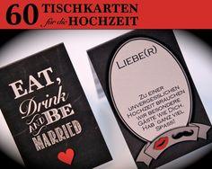 60+Tischkarten/Platzkarten+Hochzeit+von+Kleine+Fabrik+auf+DaWanda.com