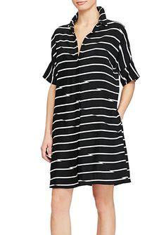 American Living™ Striped Twill Shirt Dress