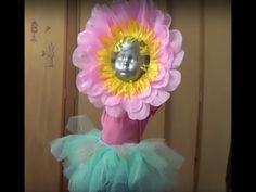 Disfraz de Flor para niña. DIY - YouTube