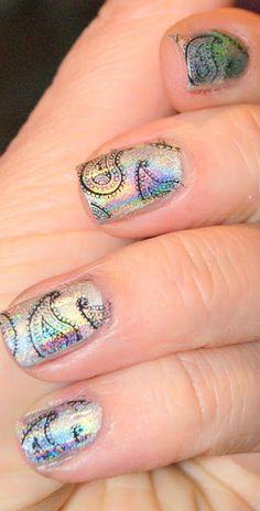 Cool nail art by, les secrets d'angèle: Psychedelic de Fnug, il est hallucinant!!!