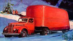 Plan59 :: Retro Vintage 1950s Christmas Ads and Holiday Art :: International Trucks, 1939