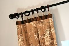 How to Make Curtains Longer ~ Decorating tip and pictured tutorial.  Found via TipJunkie.com