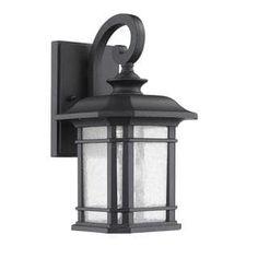 Transitonal 1-light Black Outdoor Wall Light Fixture | Overstock.com Shopping - The Best Deals on Wall Lighting