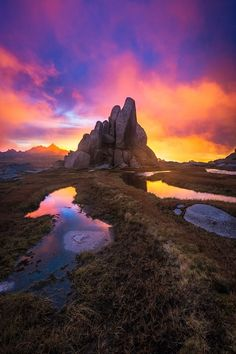 Kosciusko National Park, sunrise, sunset, water, reflections, clouds, cloudy, sunbeams, beauty of Nature