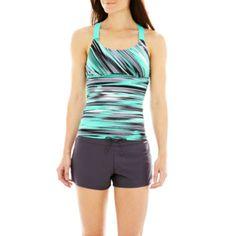 ZeroXposur® Wide-Strap Tankini Swim Top or Knit Board Shorts  found at @JCPenney