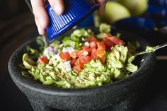 Try this Mexican guacamole dip recipe made with fresh jalapeno peppers, plum tomato, and of course, avocados!