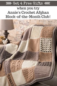 crochet camera Master exciting new crochet skills every month! Plus, there's yarn in every shipment! Crochet Afghans, Crochet Quilt Pattern, Annie's Crochet, Granny Square Crochet Pattern, Crochet Blocks, Crochet Cross, Crochet Blanket Patterns, Crochet Stitches, Knitting Patterns