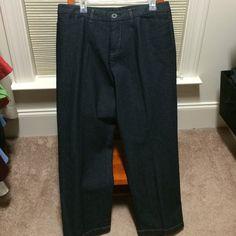 Dark wash jeans Dark wash, stretch jeans. Slant front pockets. Contrast stitching. Rarely worn. petite! Kim Rogers Pants