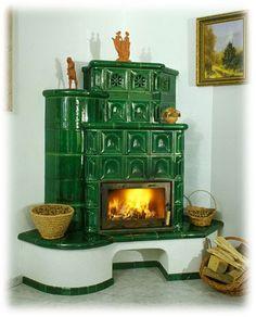 Krbaři a kamnáři EKOMPLEX - Kachlová kamna | Vytápění kachlovými kamny Solid Fuel Stove, Vintage Stoves, Interior Architecture, Interior Design, Stove Fireplace, Cabins And Cottages, Cozy Cabin, Brick Wall, Home Furnishings