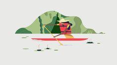 #canoe #illustration #camping #getoutside #outdoors #paddle #buck