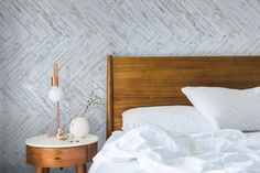 """MyWoodWall """"Brushed Coral"""" Peel & Stick wood wall panels Timber Wall Panels, Timber Walls, Timber Panelling, Wood Panel Walls, Wooden Walls, Stick On Wood Wall, Peel And Stick Wood, Bedroom Wall, Bedroom Decor"""