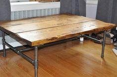 Pipe & Board Coffee Table