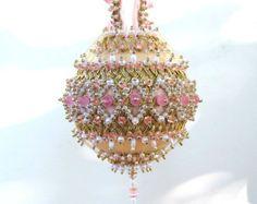 "/""Ice Princess/"" kit makes 2 Ornaments ribbon rondells pearls 7 color choices  new"