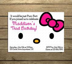 Hello Kitty Birthday Party Invitations Pick by SweetPeaPrintz, $5.00