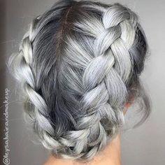 Sterling Silver by @leysahairandmakeup ▫️◽️▫️ . . @atelierbysquare . . . . . . . . . . #sterlingsilver #silverhair #silverbraid #dutchbraid #braid #braidinspo #braidideas #updo #licensedtocreate #ateliersquare #pastelbraidlove #hairartist #haircolorist #fuckinghair #hairinspo #hairbrained #hotonbeauty #behindthechair #modernsalon #stylistshopconnect #stylistssupportingstylists #BARBAR #barbarhair #barbarhairtools