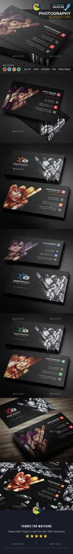 Photography Business Card — Photoshop PSD #professional card #business card • Available here → https://graphicriver.net/item/photography-business-card/14879750?ref=pxcr