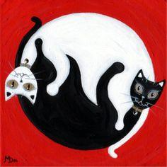 Yin and Yang Cats 2 by Pet Art Melinda