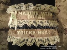 US Marine set with Marine wife and OORAH by CreativeGarters, $35.00