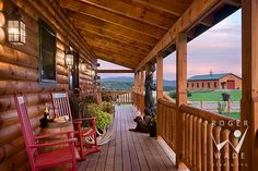 Love this long porch