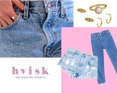 Denim and pinkish