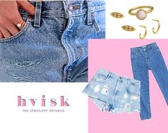 Denim and pinkish