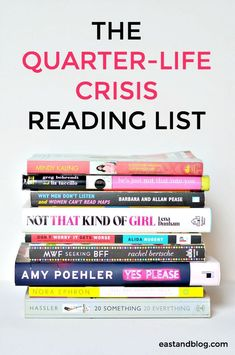 The Quarter-Life Crisis Reading List - Reading recommendations for twenty-something women who need to get out of a funk or just want to feel better about life Reading Lists, Book Lists, Reading Books, Reading Music, Books And Tea, Quarter Life Crisis, Reading Rainbow, Reading Material, What To Read