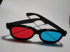 Recycle old eyeglass frames and those cheap cardboard movie theater 3-D red/blue glasses into sturdy & classy 3-D glasses!